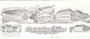 Briefkopf der Firma Gebr. Fried
